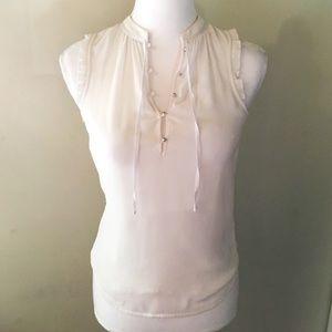 NWOT Zara White Button Up Blouse